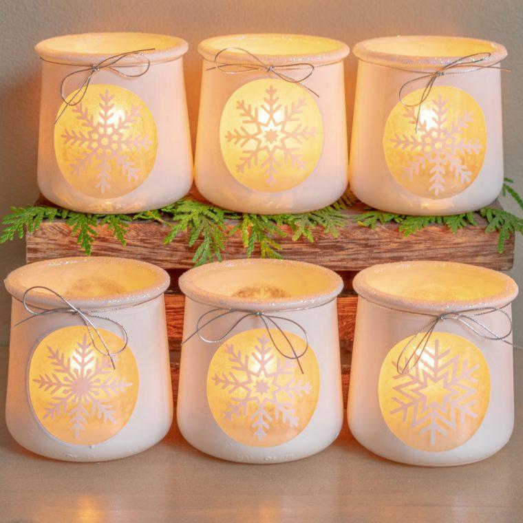 6 Ideas To Use Glass Oui Yogurt Jars Crafty Dutch Girl